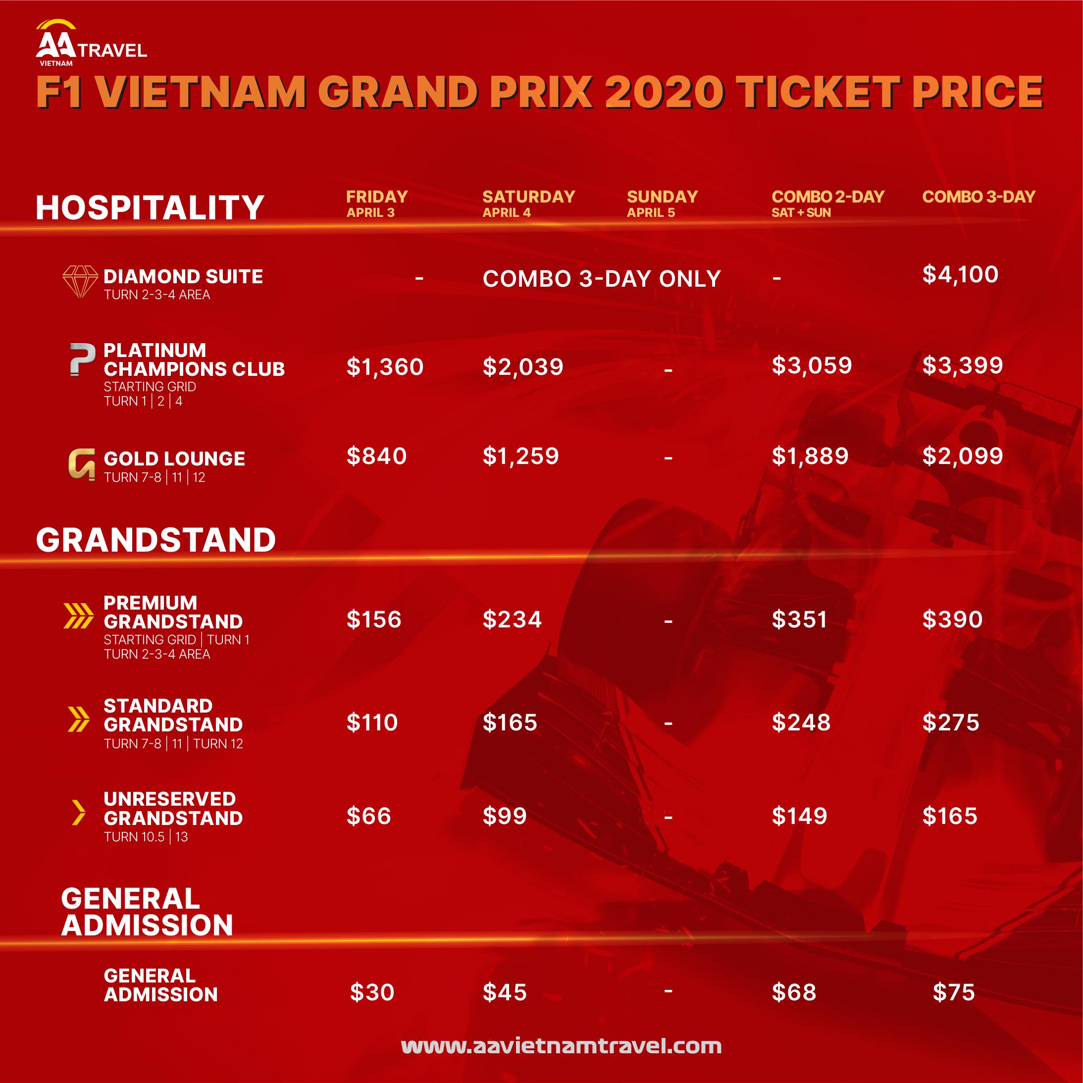 Vietnam Grand Prix Ticket